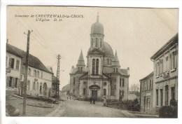 CPSM CREUTZWALD (Moselle) - Souvenir De Creutzwald La Croix ...l'église - Creutzwald