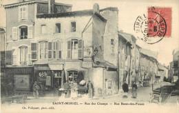 55 ST / SAINT MIHIEL - RUE DES CHAMPS - RUE BASSE DES FOSSES ( DEVANTURE CHARCUTERIE- EPICERIE ) - Saint Mihiel