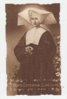 HOLY CARD - SANTINO D´EPOCA (ANTICO) - FUSTELLATO - Beata CATERINA LABOURé -  FB 95 - Con Preghiera - Santini