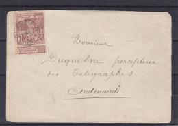 Belgique - Lettre De 1897 - Oblitération Blandain - Expédié Vers Audenarde - Exposition De Bruxelles - 1894-1896 Exhibitions