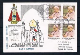 Argentinien1982 Beleg Papst Johannes Paul II Zu Besuch In Argentinen - Argentinien