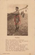 CHASSE AUX RATS-SOLDAT ALLEMAND ET SON TABLEAU DE CHASSE-PARTICULARITE PELLE A MANCHE RACCOURCI-CARTE ALLEMANDE - War 1914-18