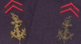 Troupes De Marines  ANCRE En BRODERIE CANNETILLE Infanterie Coloniale - Armée De Terre