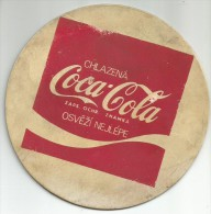 Coca Cola Vintage Coaster From Czechoslovakia - Coasters
