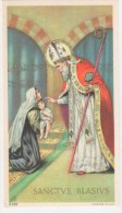 HOLY CARD, SANTINO D´EPOCA  - SANTUS BLASIUS (SAN BIAGIO) - NB 3-220 (senza Preghiera) - Santini