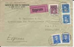 HONGRIE - 1935 - ENVELOPPE EXPRES De BUDAPEST Pour BASEL (SUISSE)