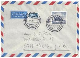 Deutschland Berlin Michel 126 Mit Sonderstempel 1.4.1955 Hamburg-Flughafen Aufnahme Des Deutschen Luftverkehrs Lufthansa - [5] Berlino