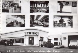 """Cpsm 14 Caen , Les Etablissements """" Chivot """" La Maladrerie ,rue Gallieni ...2cv...tracteurs - Caen"""
