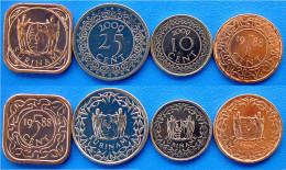 SURINAME SERIE 4 MONETE FDC - Suriname 1975 - ...