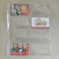 25 Feuilles Pour Télécartes, Coincards - 8 Cases - Télécartes