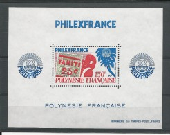 POLYNESIE - BLOC YVERT N°6 ** - COTE = 21 EUROS - Blokken & Velletjes