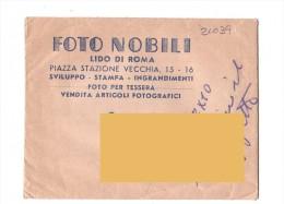 LIDO DI ROMA - Busta Pubblicitaria - Foto Nobili - Piazza Stazione - - Fatture & Documenti Commerciali