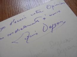 Louis DEJEAN (1872-1953) Sculpteur BANDE à Gaston SCHNEGG - Autographe - Autographs