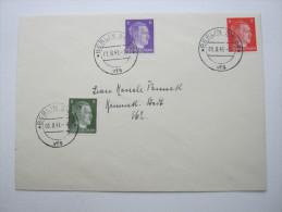 1941, 3 werte Hitler auf FDC , ersttagsbrief