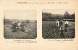 60 LIANCOURT - ETABLISSMENT BAJAC - DEMONSATRATION PRATIQUE DE LA CHARRUE BRABANT DOUBLE BAJAC -  TRAVAIL - Liancourt