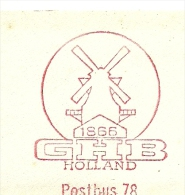 ICE CUT METER WINDMILL GHB 1866 Holland, 6/2/1967 - Molens