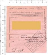 CREMONA 1958 - BANCA NAZIONALE DEL LAVORO - Ricevuta - Fatture & Documenti Commerciali