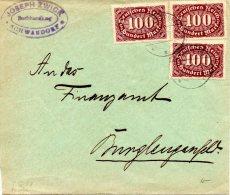 ALLEMAGNE. N°155 Sur Enveloppe Ayant Circulé. - Covers & Documents