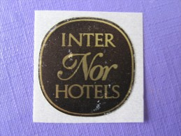 HOTEL HOTELLI HOTELL HOTELLET PENSION INTERN NOR HOTELS MINI SWEDEN DECAL LUGGAGE LABEL ETIQUETTE AUFKLEBER - Hotel Labels
