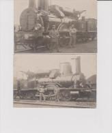 2 CPA  LOCOMOTIVE PLM 879 - Trains