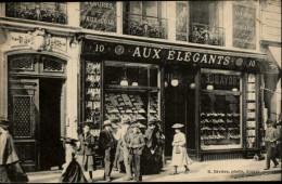 49 - ANGERS - Devanture Magasin - Aux élégants - Carte Pub - Ganterie - Bonneterie - Angers