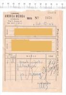 1957 - CREMONA - Corriere Andrea Menga - Fatture & Documenti Commerciali