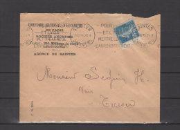 17 - Agence De Saintes - Comptoir National D'Escompte De Paris - 1926 - Postmark Collection (Covers)