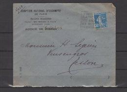 """17 -  Agence De  Saintes -  Comptoir National D'escompte De Paris - """"  Visitez Saintes """" - 1925 - Postmark Collection (Covers)"""