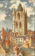 49 - ANGERS - Tour Saint-aubin - Carte Pub - Germain Et Grassin - Angers