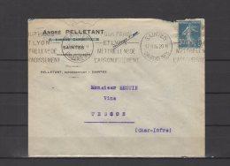 17 - Saintes - André Pelletant - Représentant - 1926 - Postmark Collection (Covers)