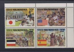 MICRONESIE 1988 COLONISATION Sc N°59/62 NEUF MNH** - Micronésie