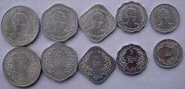 MYANMAR BURMA 5 MONETE  1966 1,5,10,25,50 PYAS ALLUMINIO UNC FDC UNC - Monete