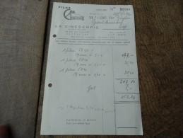 """Facture Du 27/04/1942 De La Firme """"LA CINESCOPIE""""  De Bruxelles - Belgique"""