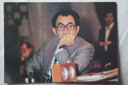 JEU -  Chess Schach Ajedrez Echecs 1982 USSR Postcard  Petrosian  Chess World Champion - Echecs