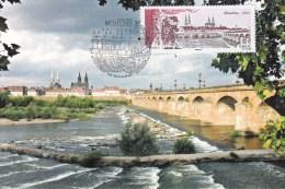 Moulins - Le Pont Régimortes - Oblitération Du 23.03.2012 - Cartes-Maximum