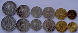 DJIBOUTI SERIE 6 MONETE  50-20-10-5-2-1 FRANC FDC UNC - Djibouti