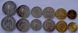 DJIBOUTI SERIE 6 MONETE  50-20-10-5-2-1 FRANC FDC UNC - Gibuti