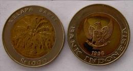 INDONESIA 1000 PUPIAH 1996 BIMETALLICA  PALMA FDC UNC