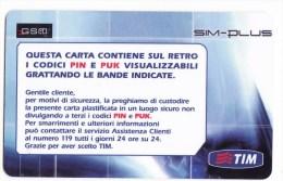 Italy , GSM  SIM Card , SIMPLUS,  Used - Italy