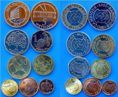 MOZAMBICO SERIE 9 MONETE 10-5-2-1 METICAIS +50-20-10-5-1 CENTAVOS CON BIMETALLICA FDC - Mosambik