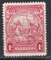 Barbados, 1938/47 - 1p Carminio - Nr.194 Usato° - Barbados (1966-...)