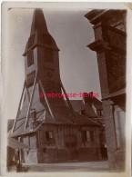 Vers 1890-HONFLEUR-gros Plan Sur L'église Sainte Catherine-papier Photo Fin Format 9 X 12cm-bel état - Anciennes (Av. 1900)