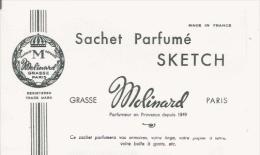 MOLINARD GRASSE PARIS   CARTE PARFUMEE ANCIENNE SACHET PARFUME SKETCH - Vintage (until 1960)