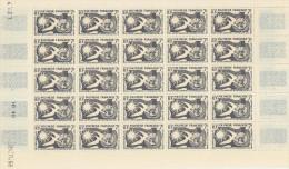 Polynésie -  Feuille Compléte De 25 Ex Du N° 12 Déclaration Universelle Des Droits De L´Homme, Superbe Luxe**...rare - French Polynesia