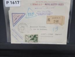 FRANCE- ALGERIE LETTRE PUBLICITAIRE EN RECOMMANDEE D ALGER POUR RABAT 1950 A VOIR - Algeria (1924-1962)