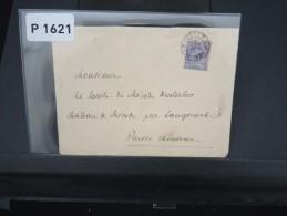 BELGIQUE - LETTRE DE 1894 DE BRUXELLES POUR LA PRUSSE AFFRANCHISSEMENT 25c  SEUL SUR LETTRE    A VOIR - 1869-1883 Leopoldo II