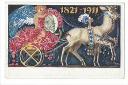 11970 -  Surréaliste Cheval Tirant Un Char Et Ange KÖNIGREICH BAYERN 1821-1911. Illustration Diez - Autres