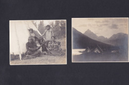 Photo Adirondack Mountains Camp Lumber Road Ausable Lake Paragon Stoney Indians Family Squaw Indien Sioux - Lieux