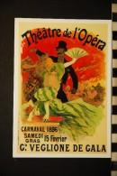 CP, Publicité, Theatre De L'Opera Carnaval 1896 VALLOIRE GALIBIER Vue Generale Le CRET ROND Les Ratissier     Spectacle - Advertising