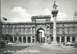 FIRENZE - PIAZZA DELLA  REPUBBLICA - VIAGGIATA  -1958 - - Firenze (Florence)